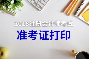 2018注册会计师准考证打印
