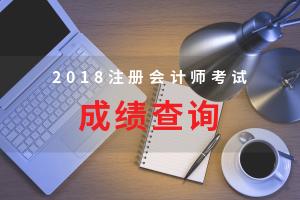 2018注会考试成绩查询