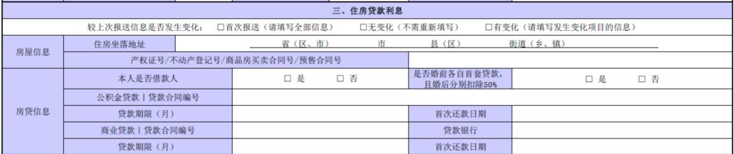 """【个税改革】在填制""""住房贷款利息――个人所得税专项附加扣除信息采集表""""时应该注意哪些问题?"""