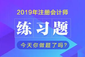 2019注会练习题